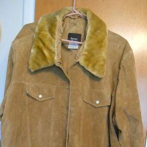 Dennis Basso Suede Leather Jacket  2X